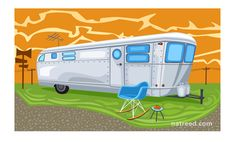 For my friend frau who loves all things Vintage Nat Reed     Trailer and Rocker