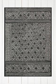 """Teppich """"Gale"""" in Schwarz mit Geoprint, 5 x 7 Fuß"""