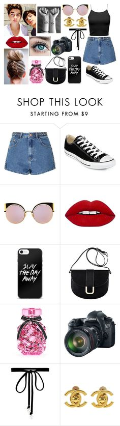 """""""You are the only person you need to be good enough for."""" by jblover-1fan on Polyvore featuring Glamorous, Converse, Fendi, A.P.C., Victoria's Secret, Eos, Joomi Lim and Chanel"""