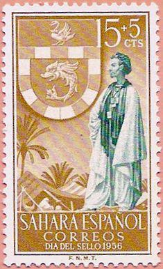 Sello Sáhara Occidental, Día del Sello 1956 - Portal Fuenterrebollo