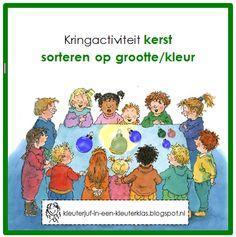 Kringactiviteit rekenen - sorteren op grootte en/of kleur (thema KERST)