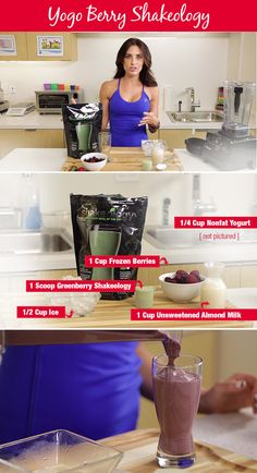 autumn calabrese shakeology, green smoothie, berry smoothie, shakeology recipe, shake recipe