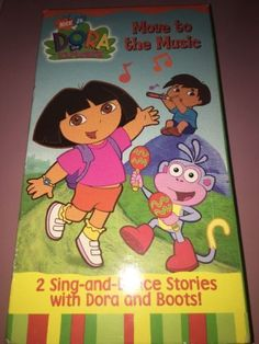 Dora The Explorer Move To Music 2 Sing And Dance Stories VHS Tape