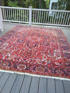 8'6 x 11'10 Antique Persian Heriz Rug FREE by BaxterandCruz
