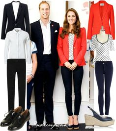 """Duke and Duchess of Cambridge inspired couple outfit"" by indicupcake on Polyvore"