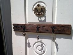Key rack made from old Chesnut barn wood