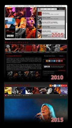 Evolución del diseño de BedwyrPhoto.com.