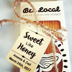 Sweet Like Honey Custom Wedding Favors  These are my Sweet Like Honey Party/Wedding Favor kits __________________________________________________________________________________________ - WHATS INCLUDED- (selected amount of each item) TAGS - Sweet Like Honey Custom Favor Tags TIES - Cut Jute Twine Ties As Seen In Photos All You Need is the honey! You can use jars of honey or simple honey
