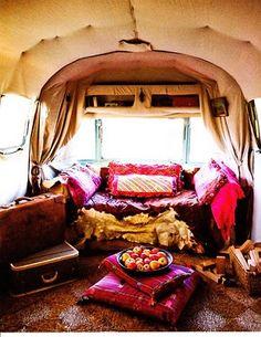 Beautiful Airstream - a California artist's haven.