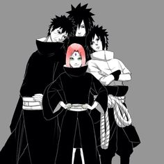 Naruto- Sakura Sasuke Obito and Madara