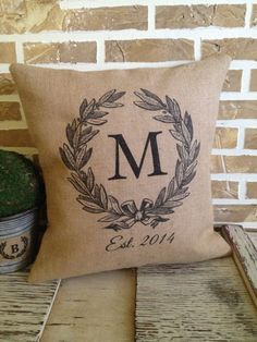 Monogrammed Olive Wreath Wedding by SimplyFrenchMarket on Etsy, $39.00
