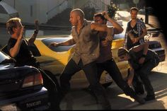 Paul Walker as Brian, Vin Diesel as Dom, Matt Schulze as Vince, Chad Lindberg as Jesse & Johnny Strong as Leon in The Fast and the Furious 23052770 Fast And Furious Cast, The Furious, Paul Walker Movies, Rip Paul Walker, Cody Walker, Paul Walker Pictures, Fast Five, Furious Movie, Beautiful Blue Eyes
