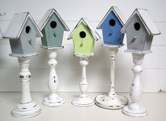 "It seems I've got a thing for pedestals, lately.  My newest fascination are pedestal birdhouses.  So pretty and they just scream, ""SPRING!""    I'm here to show you guys how to make your own.  These will be even easier to do than the pedestal bowls becau…"