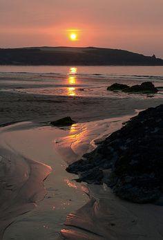Sunset at Harlyn Bay, Cornwall