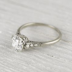 Vintage 1.50 Carat Cushion Cut Diamond Engagement Ring