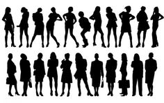 large-girls-silhouettes-vector-pack_74264.jpg (626×396)