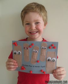 Adorable get well card for Chicken Pox