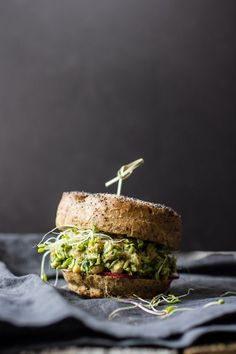 avocado pesto chickpea salad sandwiches