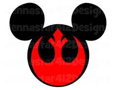 Star Wars Red Rebel Mickey DIY Printable Iron On Transfer Digital File