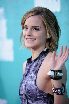 Emma Watson's shoulder-length style. #hair #emmawatson