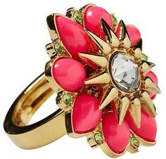 Juicy Couture Cabochon Flower Ring