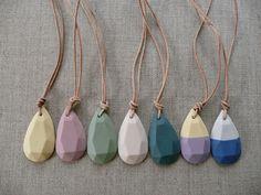 Crystal Porcelain Necklace. $38.00, via Etsy.