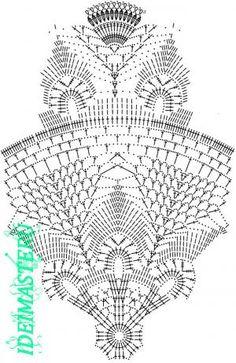 Ideas for crochet table runner free pattern beautiful Crochet Cowl Free Pattern, Crochet Doily Diagram, Crochet Rug Patterns, Crochet Mandala, Crochet Chart, Thread Crochet, Crochet Motif, Crochet Circles, Crochet Round