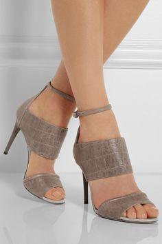 067629a7ad390d McQ Alexander McQueen - Croc-effect leather sandals