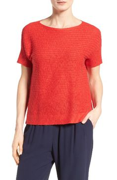 Eileen Fisher Eileen Fisher Organic Linen & Cotton Boxy Sweater (Regular & Petite) available at #Nordstrom