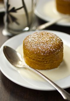 The Bojon Gourmet: Warm Pumpkin Pudding Cakes with Crème Anglaise