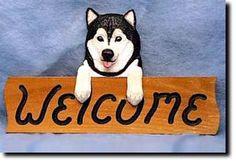 Alaskan Malamute Welcome Sign