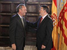 Alberto Fabra con el Secretario General del PSPV, Ximo Puig.