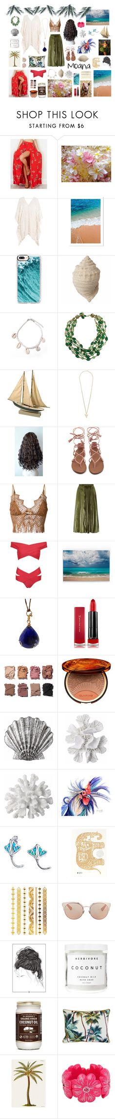 """Disney- Moana"" by darkpastel ❤ liked on Polyvore featuring OneSelf, Eberjey, Casetify, Miriam Haskell, Givenchy, Ermanno Scervino, Whistles, WithChic, Federica Rettore and Max Factor"