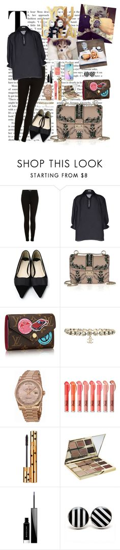 """Untitled #4124"" by libbylolbrown ❤ liked on Polyvore featuring Topshop, Chicwish, Valentino, Louis Vuitton, Chanel, Rolex, Yves Saint Laurent, tarte, Givenchy and Couture Colour"