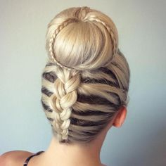 Blonde Sock Bun With Braids