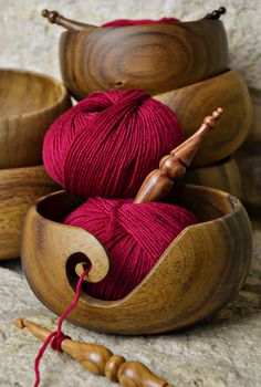 Furls Wooden Yarn Bowl