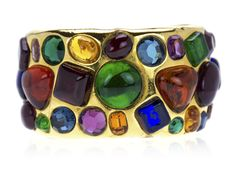 Chanel Vintage Multi-Color Gripoix Cuff