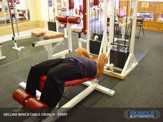 Decline Bench Cable Crunch instruction video & exercise guide! Learn how to do decline bench cable crunch using correct technique for maximum results!