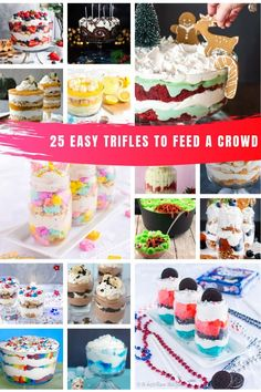 these easy trifle recipes to feed a crowd whatever the Holiday or occasion!Loving these easy trifle recipes to feed a crowd whatever the Holiday or occasion! Mini Oreo Cheesecake, Oreo Cheesecake Recipes, Trifle Desserts, Dessert Recipes, Chef Recipes, Family Recipes, Easy Recipes, Easy Meals, Desserts For A Crowd