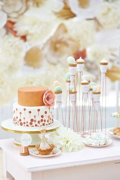 Sugar Pop Bridal Shower inspiration | Photo by WojoImage Photography | Read more - http://www.100layercake.com/blog/?p=77879