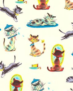 Funny Cats' from Michael Miller Fabrics