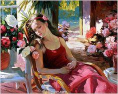 Maher Art Gallery: Vladimir Volegov Paintings /Re upload 2 Woman Painting, Figure Painting, Painting & Drawing, Painting Portraits, Painting Pictures, Vladimir Volegov, Creation Photo, Ecole Art, Commercial Art