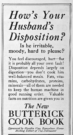 Your hubby's poor disposition is your fault! Vintage Ad -- A Lifetime Legacy -- http://ALifetimeLegacy.com
