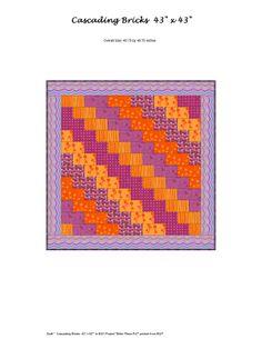 Cascading Bricks quilt pattern by Mary Ann Altendorf