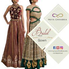 Breathtaking gowns for your trousseau needs- Bridal wear by Priya Chhabria. #priyachhabria #weddingdress #weddingstyle #indianwedding #designerwear #gown #gowns #weddingsutra #bridelicious #bridalwear #indianculture #whatwhowear #outfit #style #trendy