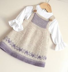 Thanks wiemodemakeup for this post.Luv U Forever Pinafore Dress - Knitting pattern by OGE Knitwear Designs.Luv U Forever Pinafore Dress - Knitting pattern by OGE Knitwear Designs, Baby Knitting Patterns, Knitting For Kids, Baby Patterns, Dress Patterns, Knitting Charts, Smocking Patterns, Shawl Patterns, Knitting Ideas, Clothing Patterns