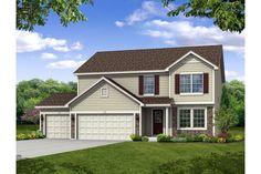 Baymont model homes at Saddle Creek in St. John, Indiana