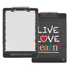 live love learn - clipboard