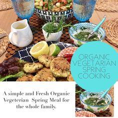 Recipe on the website Patties Recipe, Spring Recipes, Tofu, Vegetarian Recipes, Organic, Fresh, Meals, Website, Baking
