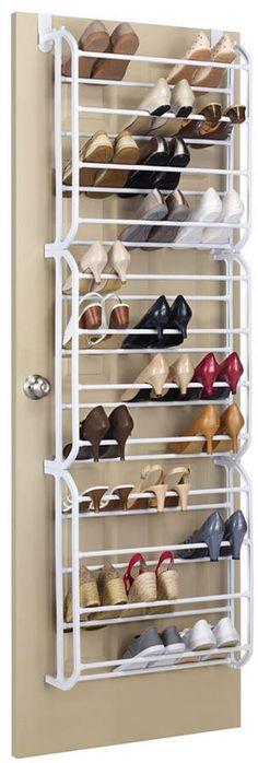 Whitmor Over The Door Shoe Rack - 36 Pair - Storage Organizer: Home & Kitchen Do It Yourself Organization, Garage Tool Organization, Diy Shoe Rack, Shoe Racks, Door Shoe Organizer, Mac, Dressing, Shoe Wardrobe, The Doors